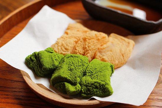 黃豆粉抹茶葛餅 ($28)