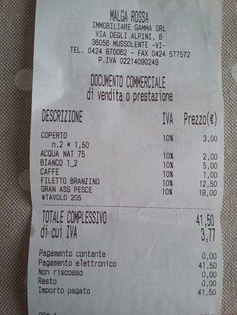 Mussolente, Italien: conto