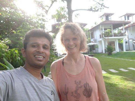 With German Yoga teacher