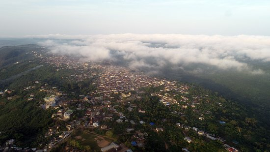 """Larteh Akuapem is perched on the Akuapem mountain range at a height of about 389m above sea level. The name Larteh is derived from two Ga words """"La"""" meaning fire and """"Te"""" meaning stone thus """"firestone"""" The Akuapems have a rich history and are known to be fierce warriors.  #larteh #ridge #mountain #roadtrip #mountaindrive #mountaintown #mountains #mountainscapes #naturephotography #valley #fog #mist #terrain #travelandsee #roadphotography"""