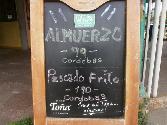 San Jorge, Nicaragua: Todos los días ofrecemos ALMUERZO a partir de C$99 /U$ 3.00