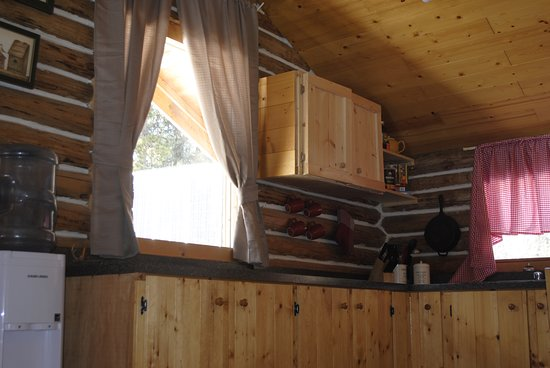 """Dease Lake, Канада: 16 Mile Cabins """"Family Cabin"""" Kitchen"""