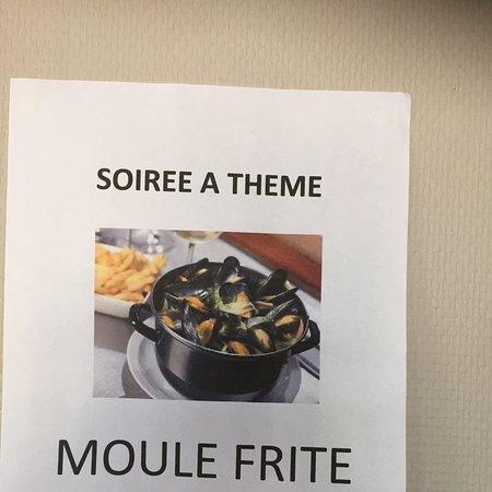 Gouttieres, Frankrike: Soirée.  À thème  au restaurant LA.  TABLE DE  GOUTTIÈRES.  Menu à 16 euros. Kir offert. Le jeudi 19 septembre