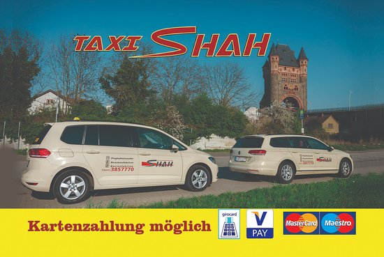 Worms, Almanya: Taxi Shah visitenkarte