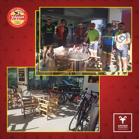 Bikers are welcome!Nothing better than a refreshing pit-beer stop at Cretan Brewery!