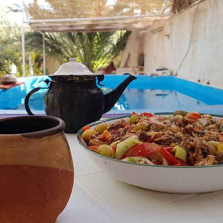 Eating traditional is the best and ghardaia is #famous with its couscous with herbs amazing dont miss it.