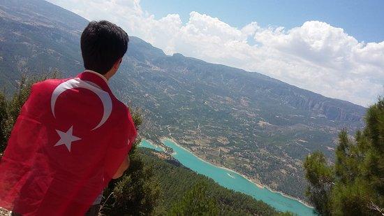 Ermenek, Turkey: Barajı izlerken