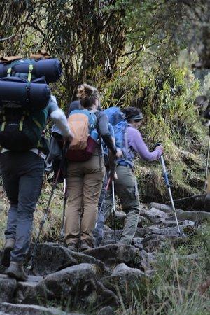 on inka trail to Machupicchu