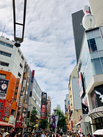 The street with the most young people in Ikebukuro, Tokyo ※Ikebukuro Station East Exit side (There are lot of shopping spot.)