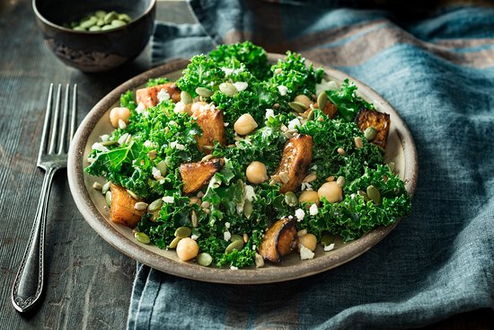 Fogo de Chão Brazilian Steakhouse: Butternut Kale Salad:  Fresh kale, roasted butternut squash, chickpeas and feta mixed with pumpkin and sunflower seeds tossed in honey-citrus vinaigrette.
