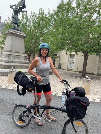Le plus beau sourire de la Loire à vélo de l'été 2019 :-) #velovaldeloire