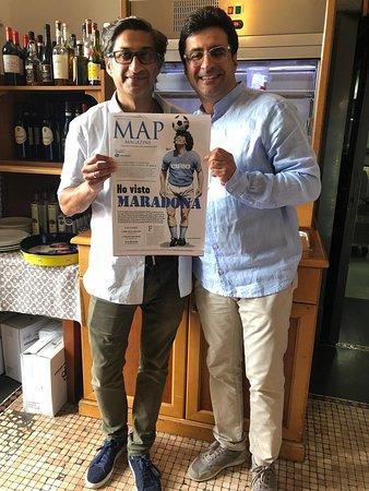 Con Asif Kapadia regista del film Diego Maradona Al 53