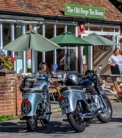 Sunny Sunday at the old forge in Hambledon.