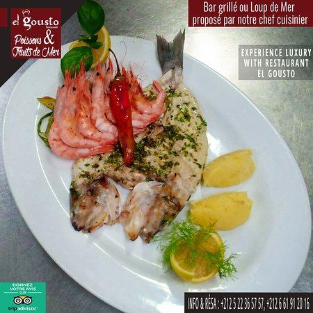 👨🏻🍳 Bar grillé ou Loup de mer proposé par notre chef cuisinier 🍽👌🏻 ✨Experience luxury with El Gousto Restaurant✨ Info & Résa : 📞 +212522365757 / +212661912016 Nous trouver : 📍https://goo.gl/maps/JrcAgyo3vox Menu : 📜 http://www.elgousto.com/carte-elgousto/ #elgoustorestaurant #cuisineitalienne #cuisine #amazinglight #morocco #moroccotravel #casablanca #ambiance #restaurantcasablanca #restaurantmaroc #cuisineitalien #cuisinepoisson #foodlovers #sortircasablanca #seafood #toutsimplementbo