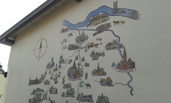 Salzhausen, Tyskland: haus bemalung in der nähe