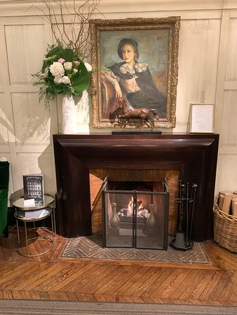 Fireplace in the Main Desk Room--Hotel Lancaster--Paris
