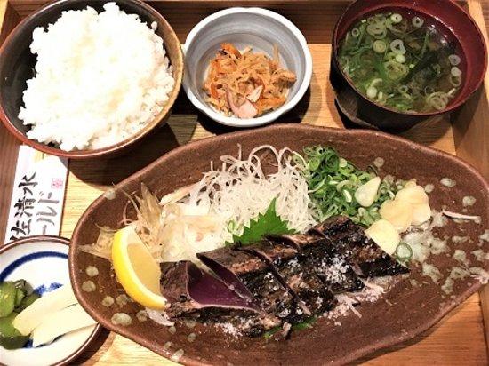 Tosa Shimizu World: かつおの藁焼き定食。十分な量でした。