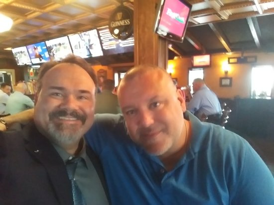 Warren, MI: At Malones tavern in Detroit with my buddy Giancarlo.