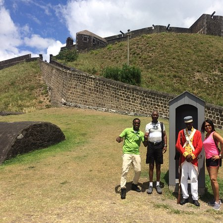 Cayon, St. Kitts: These are some very guests I had doing an excursion of many site on my island and visited brimstone hill fortress and enjoy the spectacular view and history. Come on down