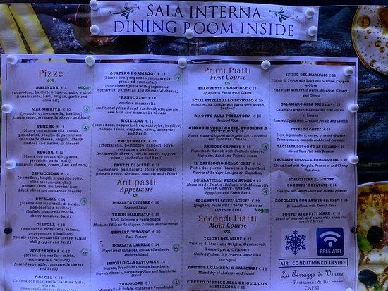 Terrazza Di Venere Ristorante Dell Hotel Regina Cristina