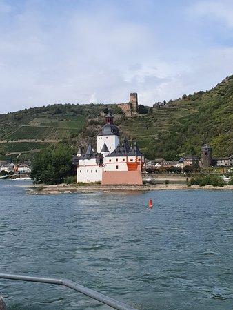 Burg Pfalzgrafenstein: View from Rhine River cruise, mid Sep 2019