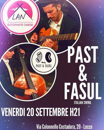 Venerdì 20 Settembre ore 21.00, venite alla nostra serata di musica dal vivo con la collaborazione dei: Pasta&Fasul  Entrata libera con consumazione obbligatoria. Per prenotare chiamare il: 0832 1560829