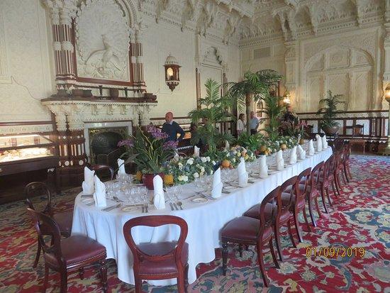 Hampshire, UK: Spisestuen til herskabsgæsterne.