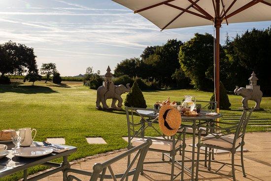 Saint Estephe, ฝรั่งเศส: Breakfast on the terrace
