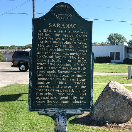 Saranac Historical Marker