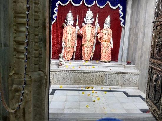 Ram Mandir: RAM, Sita & Lakshman . Hanuman