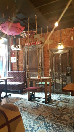 Brass Monkey: Inside quirkly swing seating