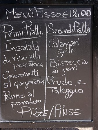 Cremeno, Italië: Pranzo di lavoro: il menù del 12 luglio 2019