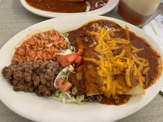 Beef and Cheese Enchilada Plate
