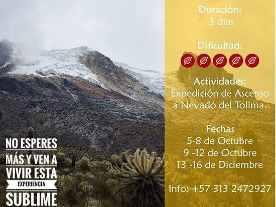 Tolima Department, Colômbia: !No esperes más!  Reserva ya tu cupo y vamos a vivir esta experiencia sublime.
