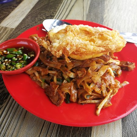 Teluk Kumbar, Maleisië: The best fried koay teow in bayan baru.