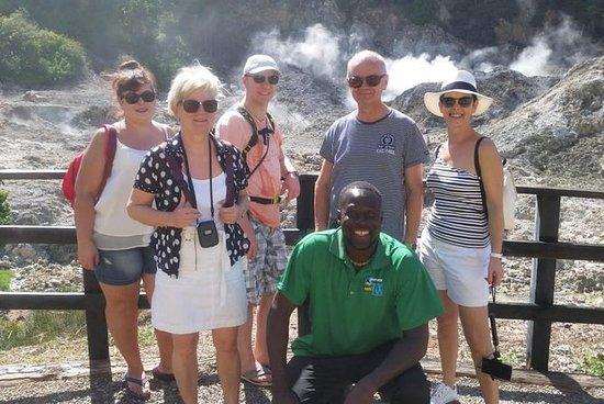 Tur til Soufiere: vulkan, doble...