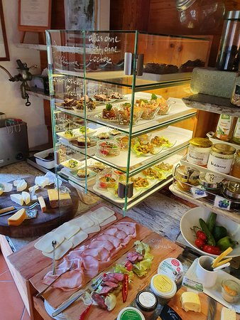 Minihof-Liebau, Αυστρία: Frühstücksbuffet