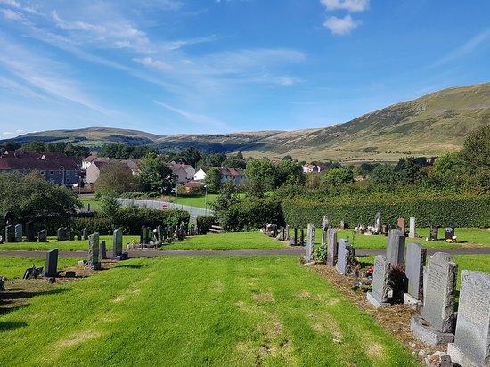 Scenic Lennoxtown graveyard