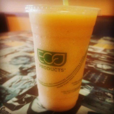 Tropical Smoothie made with Papaya, Mango, Pineapple and banana