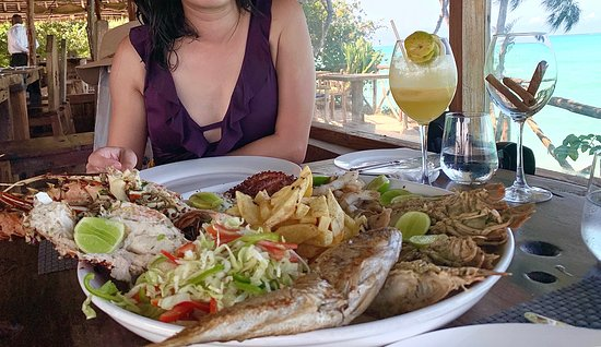 Seafood Platter with amazing view