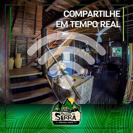 Bairro da Serra, SP: Pousada rústica construída em madeira com uma paisagem espetacular, localizada a 3 km do núcleo Santana.