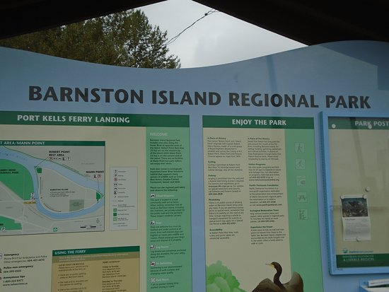 Information Board on Mainland, adjacent ferry terminal