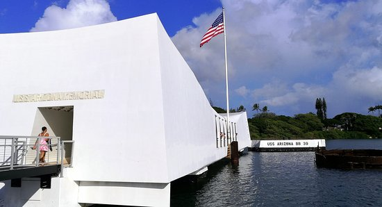 Beyond the Call to Duty Tour: The American flag still flies from the USS Arizona