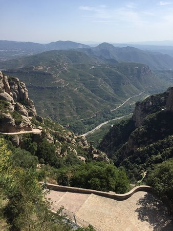 Montserrat Monastery with Cava Wine Tasting Small Group Tour from Barcelona: View from Montserrat