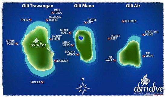 Padangbai, Indonesia: Pictures of three Gili islands