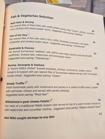 Fish & Vegetable Mains