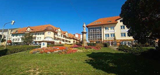 Near town square otrokovice