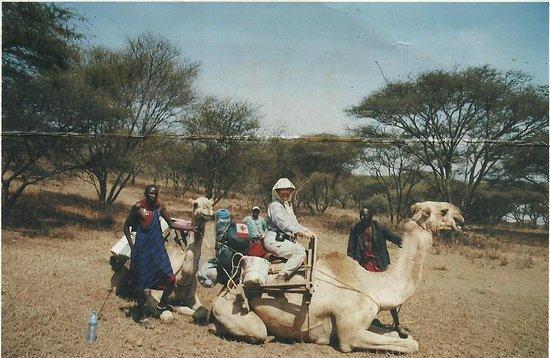 Camel safari 3 days to Longido District.  Lola Reids from Canada.