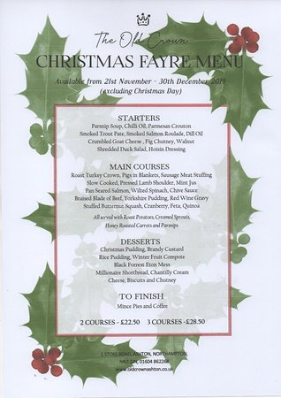 Ashton, UK: Christmas Fayre Menu 2019