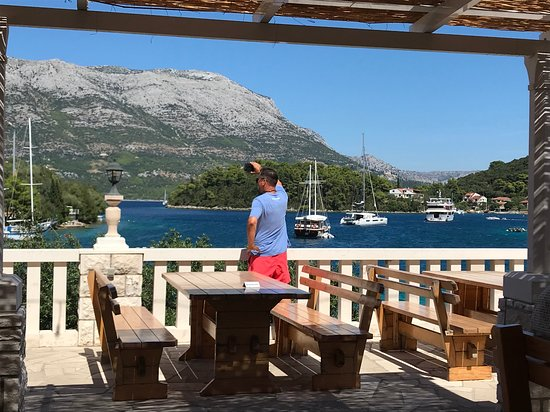 Zrnovo, Kroatië: spectacular restaurant view